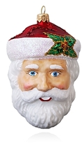 Mia Santa Glass Ornament