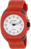 Nixon Men's Ruckus A349209 Red Polyurethane Quartz Watch