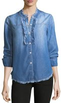 Splendid Button-Front Long-Sleeve Denim Shirt