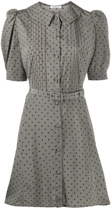 P.A.R.O.S.H. Polka Dot Belted Shirt Dress