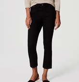 LOFT Modern Kick Crop Jeans in Black