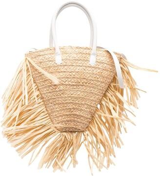 Il Gufo Fringed Trim Woven Bag
