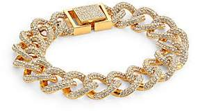 Adriana Orsini Women's Cubic Zirconia Pavé & 18K Yellow Goldplated Curb Link Bracelet