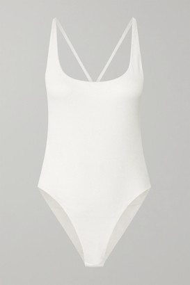 GAUGE81 Lille Open-back Ribbed Stretch-cotton Jersey Bodysuit - Off-white