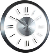 Asstd National Brand FirsTime Modish Gunmetal Wall Clock