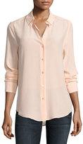 Equipment Essential Long-Sleeve Silk Shirt, Peach