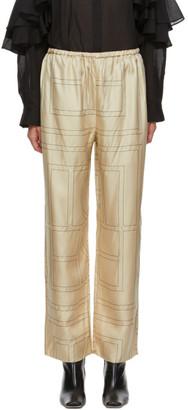 Totême Beige Monogram Vizelle Lounge Pants
