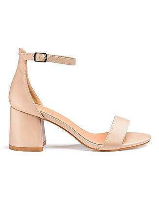 Simply Be Cammy Block Heels Extra Wide Fit