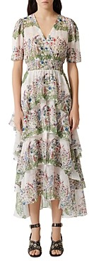 Maje Raffle Floral Print Maxi Dress