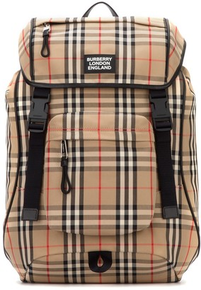 Burberry Vintage Check Logo Backpack