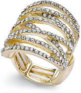 Thalia Sodi Pavé Crisscross Statement Stretch Ring, Only at Macy's