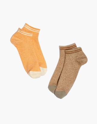 Madewell Ribbed Striped Anklet Socks