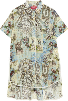 F.R.S For Restless Sleepers Aliacmone Printed Cotton And Silk-blend Voile Shirt