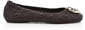 Tory Burch Women's Minnie Quilted Leather Ballet Flats