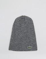 Lacoste Wool Beanie In Gray