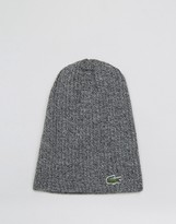 Lacoste Wool Beanie In Grey