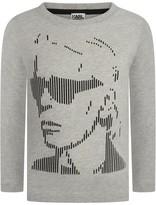 Karl Lagerfeld Boys Grey Print Jersey Top