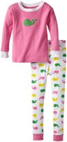 New Jammies Big Girls' Organic Pajamas Whales