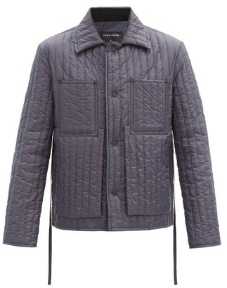 Craig Green Topstitched Quilted Nylon Jacket - Navy
