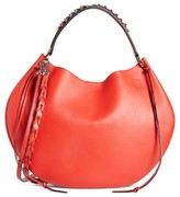 Loewe Fortune Leather Hobo - Red