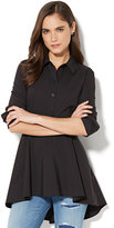 New York & Co. 7th Avenue - Madison Stretch Shirt Peplum Hem