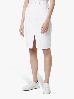 French Connection Reem Denim Pencil Skirt, Summer White