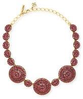 Oscar de la Renta Crystal Disc Statement Necklace, Pink