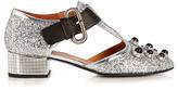 Toga Mirrored-heel glitter pumps