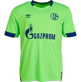 Umbro Mens S04 FC Schalke 04 Third Football Shirt Green/Peacoat