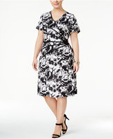 Connected Plus Size Printed Starburst Dress