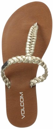 Volcom Women's Fishtail Braided T-Strap Sandal