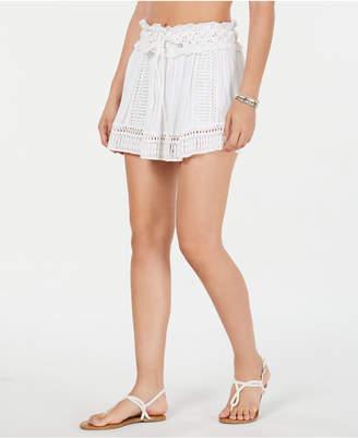 Raviya Drawstring-Waist Crochet Cover-up Skirt Women Swimsuit
