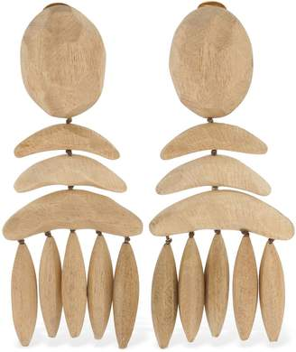 Stella McCartney Lvr Sustainable Wooden Clip-On Earrings