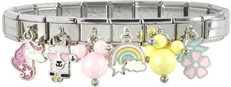 Nomination Rainbow Beads Sterling Silver & Stainless Steel Bracelet