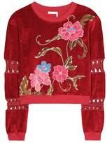 See by Chloe Printed velvet sweatshirt