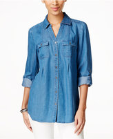 Style&Co. Style & Co Button-Front Denim Shirt, Created for Macy's