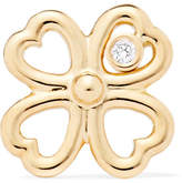 Aurelie Bidermann Merveilles Gold Diamond Earring - one size