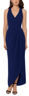 Xscape Evenings Stretch Crepe Tulip-Skirt Gown