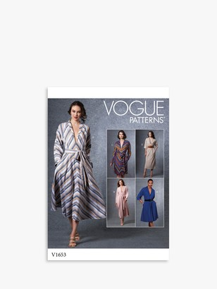 Vogue Women's Loose Fitting Dress Sewing Pattern, 1653