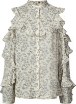 Robert Rodriguez sheer floral blouse - women - Silk - 6