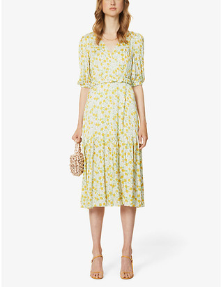 Kitri Connie floral-print woven midi wrap dress