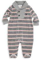 Ralph Lauren Baby's Velour Striped Footie