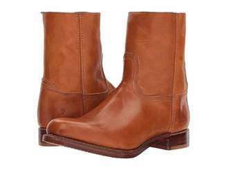 Frye Campus Inside Zip (Cognac Vintage Veg Tan) Men's Zip Boots