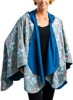 RainCaper Outerwear Capes Blue - Bluebell & William Morris Lily Reversible Hooded Rain Cape