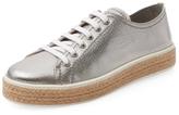 Miu Miu Metallic Leather Low Top Sneaker