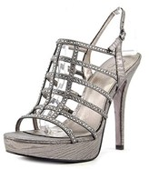 Adrianna Papell Maya Women Open Toe Synthetic Silver Platform Sandal.