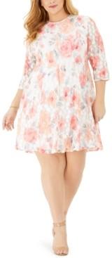 Jessica Howard Plus Size Lace Floral Dress