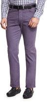 Ermenegildo Zegna Five-Pocket Stretch-Cotton Pants, Purple
