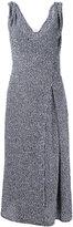 Victoria Beckham deep armhole twist dress - women - Silk/Linen/Flax/Acrylic/Viscose - 12