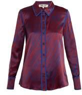 Diane von Furstenberg Visconti Dash-print silk-satin shirt